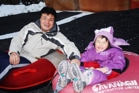 Dad and daughter spend quality time together and are creating memories to last a lifetime