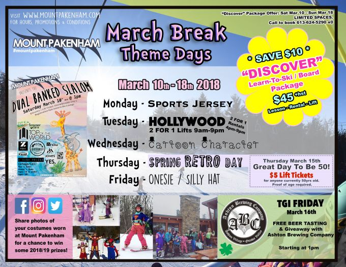 MARCH BREAK THEME DAYS